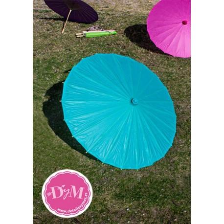 Parasol de papel Turquesa .80 cms