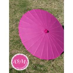 Parasol de papel Fucsia . 80 cms