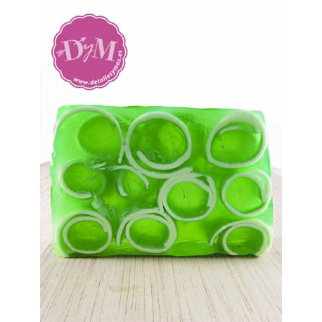 Jabón natural de manzana verde