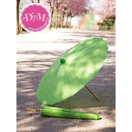 Parasol de papel en verde lima. 80 cms