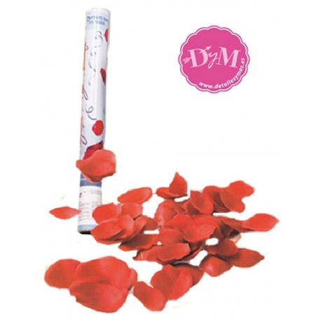 Cañones de petalos rojos