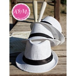 Sombrero Borsalino blanco