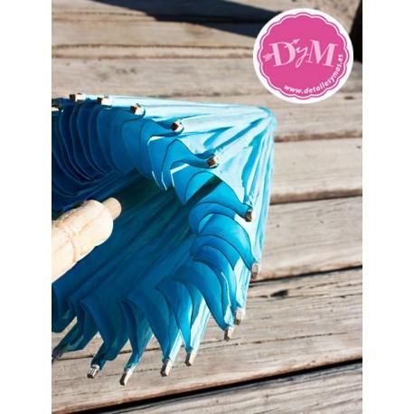 Parasol de papel celeste. 80 cms