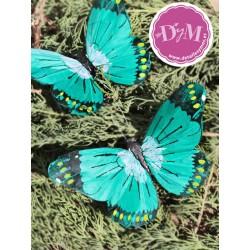 Mariposa de Pluma Iris verde