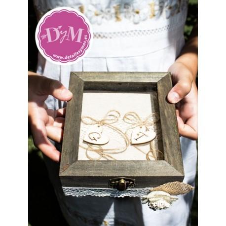 Caja porta anillos Madera