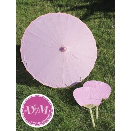 Parasol de papel en Rosa . 70 cms