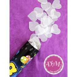 Cañones de confetti blancos
