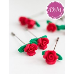 Alfiler Rosa Roja