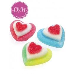 Corazón tricolor de gominola