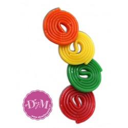 Discos de regaliz de colores