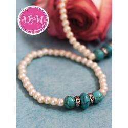 Pulsera de perlas Aqua