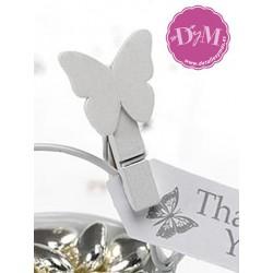Pinza de mariposa blanca