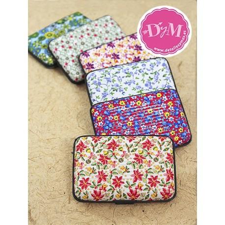 Porta tarjetas rígido flores