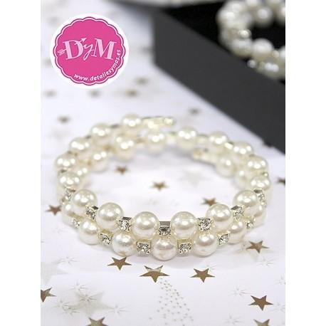 Pulsera de perlas doble