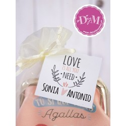 Tarjetas Boda All you need Rojo