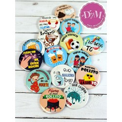 Chapas con frases boda .Pack G
