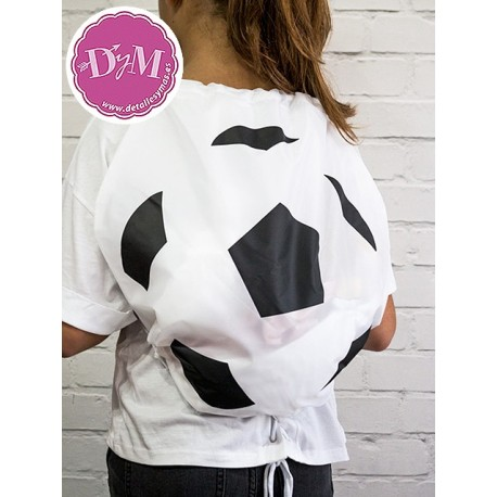 Mochila petate balón de futbol