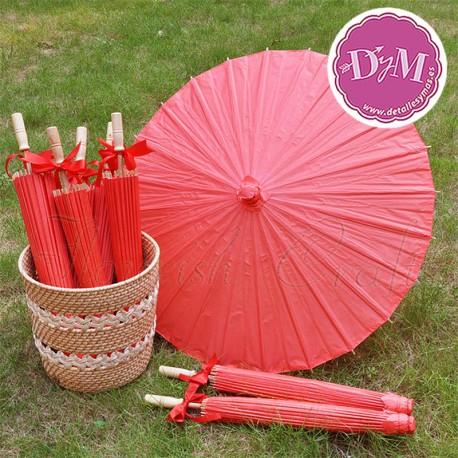 Parasol de papel Rojo