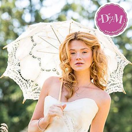 Parasol de novia de encaje. Modelo Victoria crema