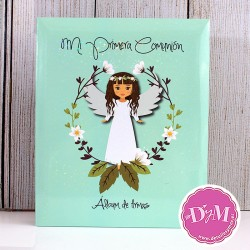 Album de firmas y fotos de comunión niña