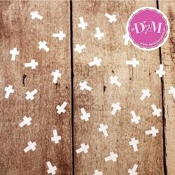Confetti cruces blancas