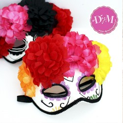 Mascara Calavera Dia de muertos