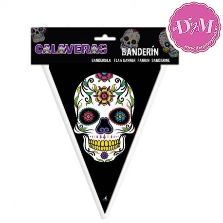 Banderín de Calaveras Mejicanas