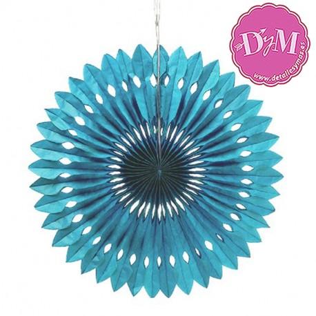 Disco de papel Azul 40 cms