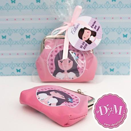 Monedero de comunión niña rosa