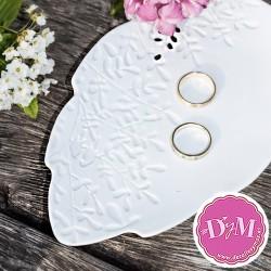 Porta anillos porcelana blanco