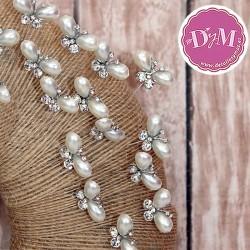 Alfiler de Mariposa con perlas