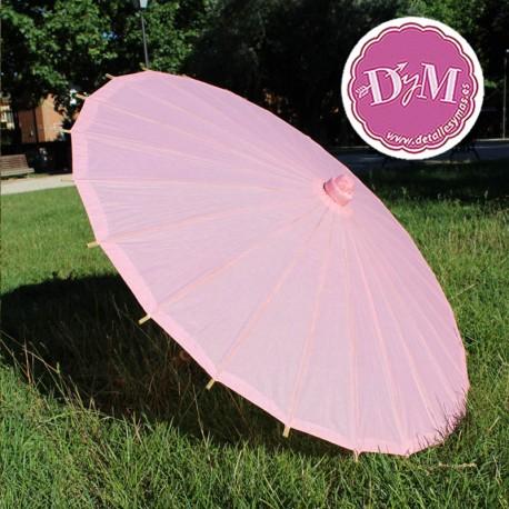 Parasol rosa de papel natural
