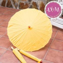 Parasol amarillo de tela