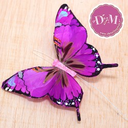 Mariposa morada de Plumas mod. Kenia