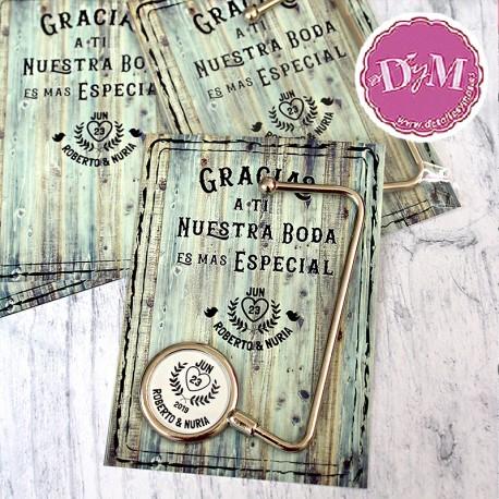 Cuelga bolsos personalizado Corazones