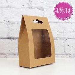 Caja kraft con ventana pequeña