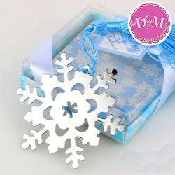 Marcapáginas Copo de Nieve