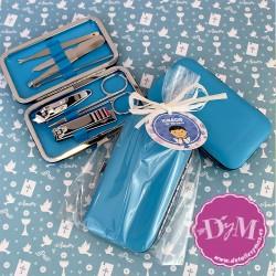 Set de Manicura Azul para comunión
