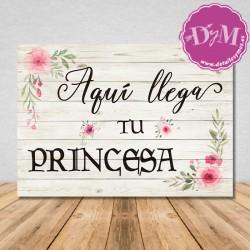 Cartel Aqui llega Tu Princesa