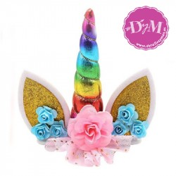Cake topper Unicornio- Decoración Tarta