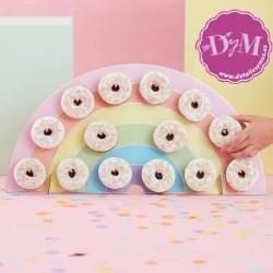 Muro de donut Arcoiris