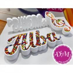 Nombre para Candy bar + Clave de Sol
