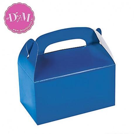 Caja azul para chuches