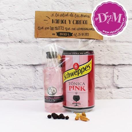 Pack Gin tonic Puerto de Indias Personalizado para boda