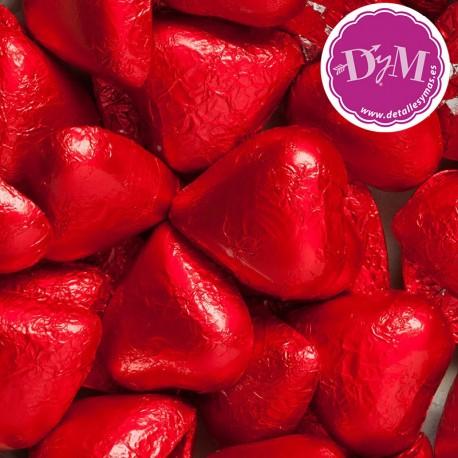 Corazones chocolate rojo . 175 ud
