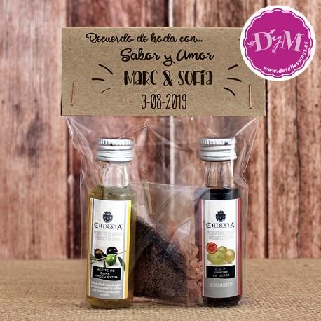 Pack personalizado de Aceite y Vinagre .25 ml.