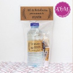 KIT de hidratación Kraft Antiresaca Personalizado.En caja transparente.Personalizado