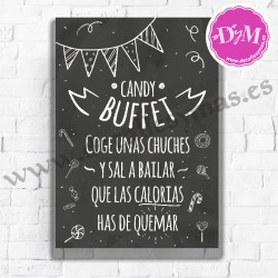 Cartel Pizarra Candy Buffet