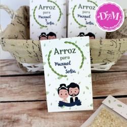 Paquete de arroz -Arroz para Lanzar