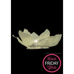 Lámparas flotantes flor de loto en blanco